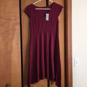 Ann Taylor wine-colored cocktail dress, Sz 4P